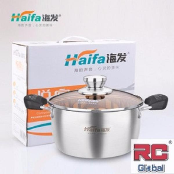 Stainless Steel Pot  / Cooking pot / soup steamer / Steamboat Pot / induction wok ( 22 cm ) 特级不锈钢汤锅 Singapore