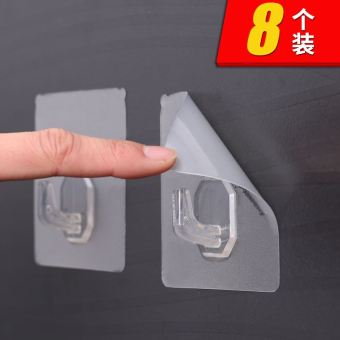 Strong Nailless Kitchen Tile Wall Hangers Suction Cup Adhesive Hook