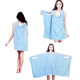 Super Absorbent Microfiber Bath Beach Wearable Body Wrap Spa Towel- intl - 4