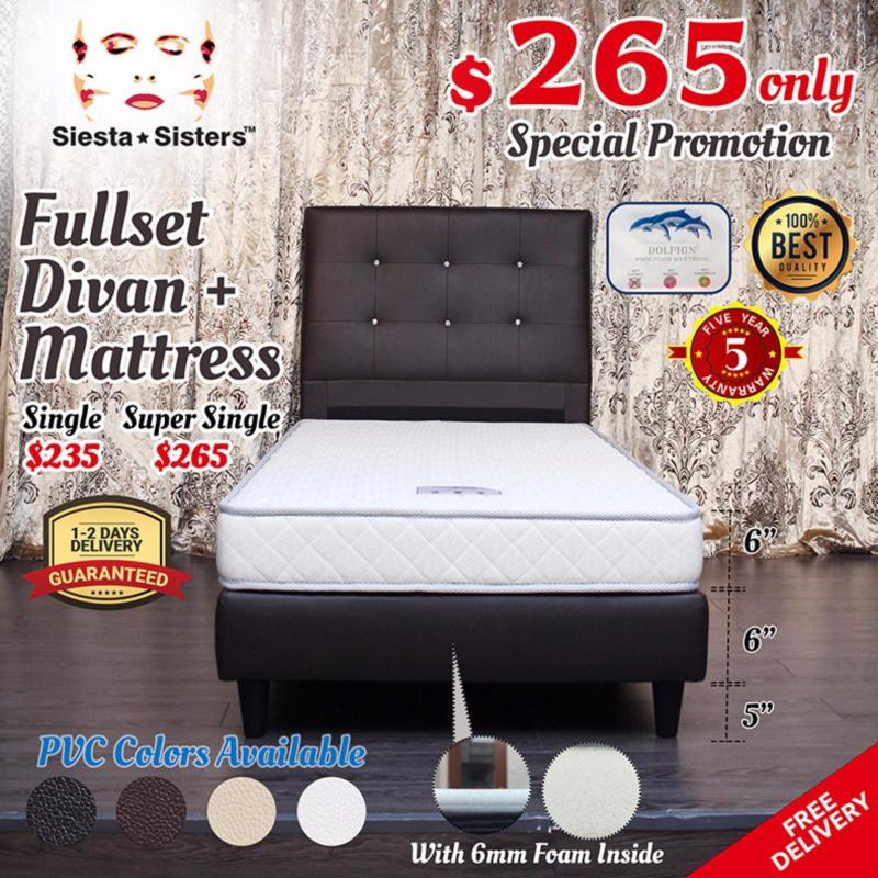 Super Single Foam Mattress with Divan Bed Frame