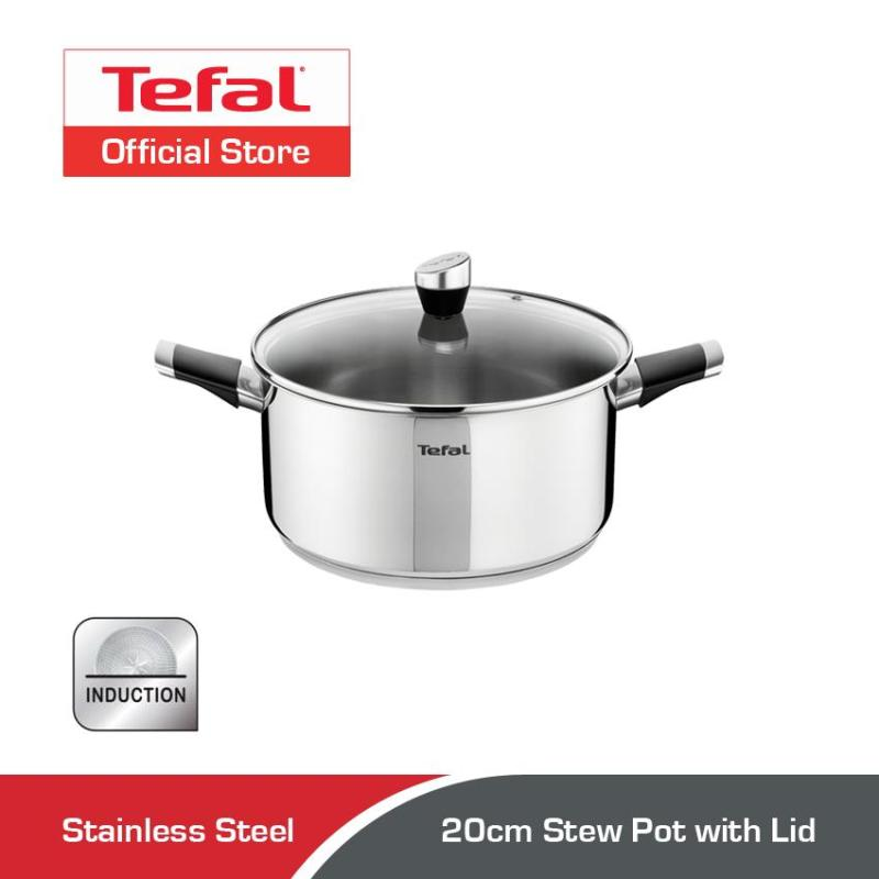 Tefal Emotion Stainless Steel Stew Pot w/Lid 20cm E82344 Singapore