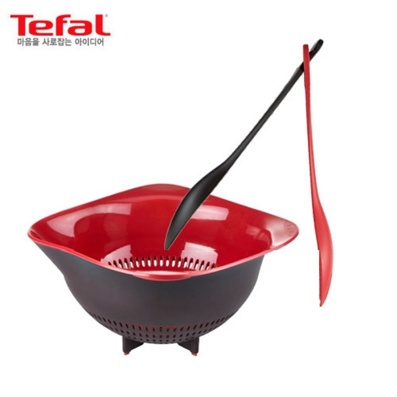 [Tefal Licensed] Ingenio 2 Cookware Set (Wicker Tray + Salad Tongs) - intl Singapore