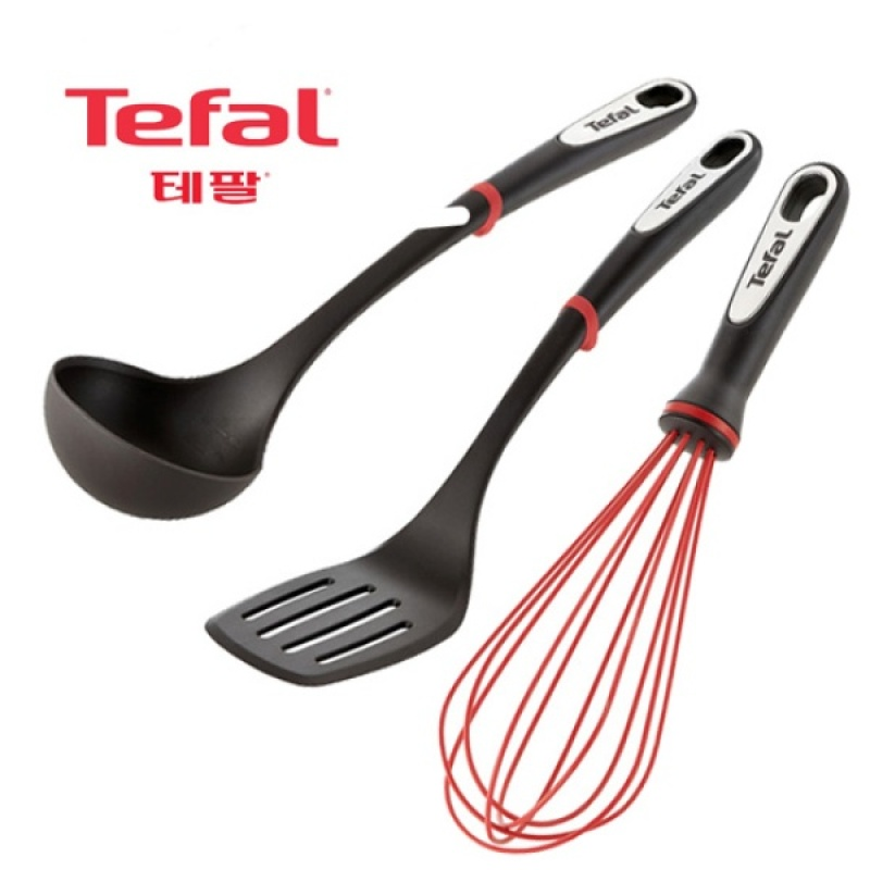 [Tefal Licensed] Ingenio Silicone 3 Cookware Set (Ladle + Turner + Whisk) - intl Singapore