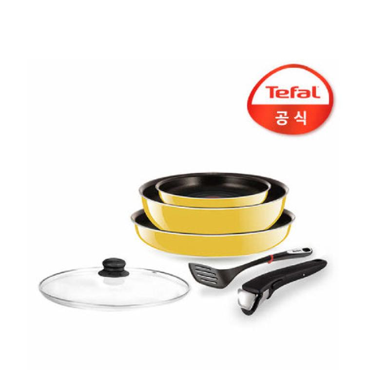[Tefal Licensed] Magic Hands Frying Pan 6 Cookware Set (3 Frying Pan + Magic Hands + Turner + Glass Lid for Pan) - intl Singapore