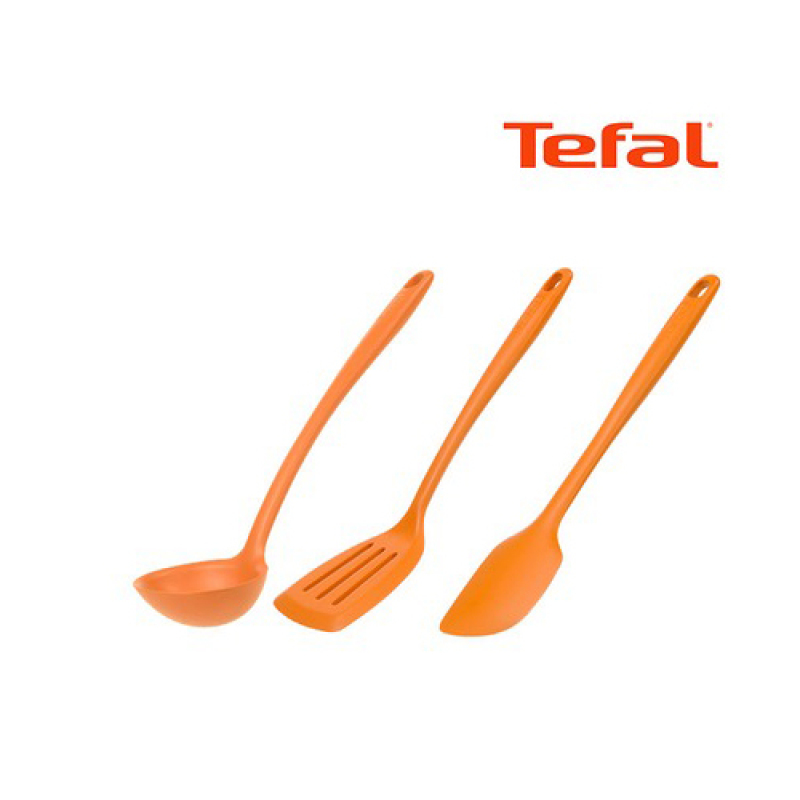 [Tefal Licensed] Premium Silicone 3 Cookware Set (Ladle + Turner + Spatula) - intl Singapore