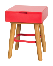 Tetris Stool (Red) / Storage Bench / Lego Secret Compartment Drawer Stool / Colourful Chair
