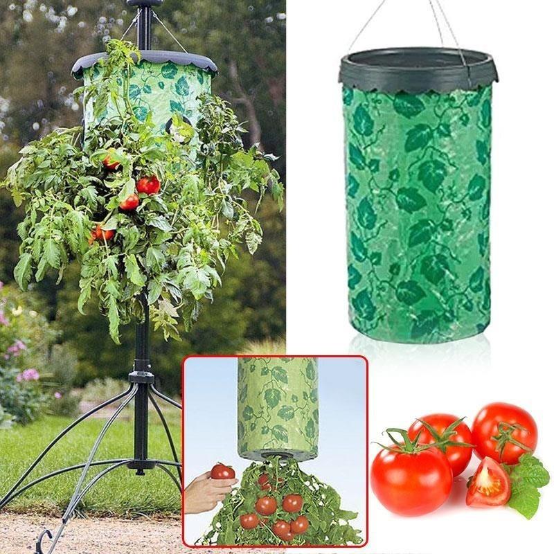 Topsy Turvy Upside-Down Tomato Planter Patio Garden Grow Veg Bag Pouch Creative - intl