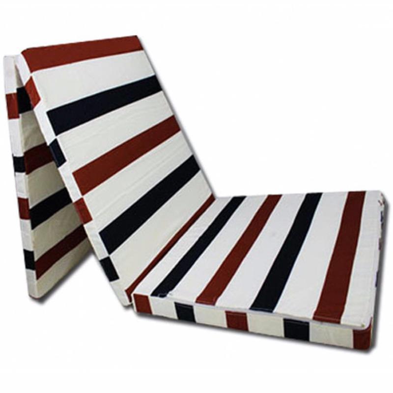 Triple Layer Folding Mattress Size: Single 90 x 200 Cm Thickness: 5Cm