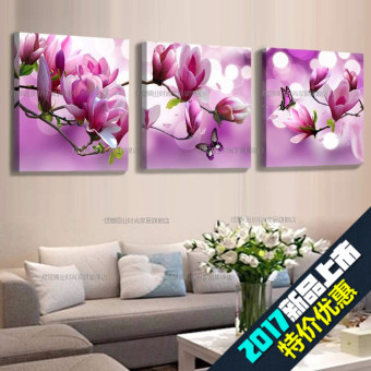 Triptych Painting The Living Room Sofa Wall Painting Frame Painting Modern  Minimalist Dining Room Bedroom Flower Part 58