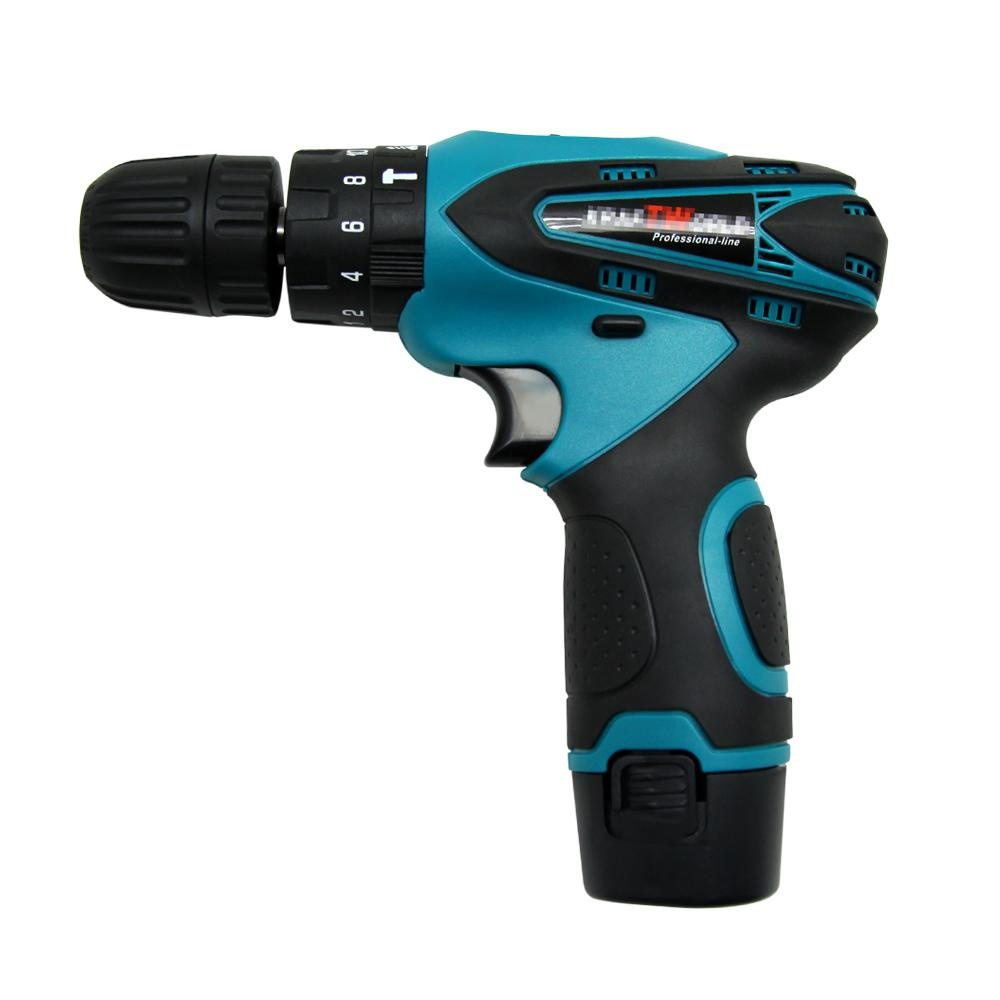 TS12FMTC 12V Cordless Impact Drill Two Speed Electric Drill with 13 Bits - intl