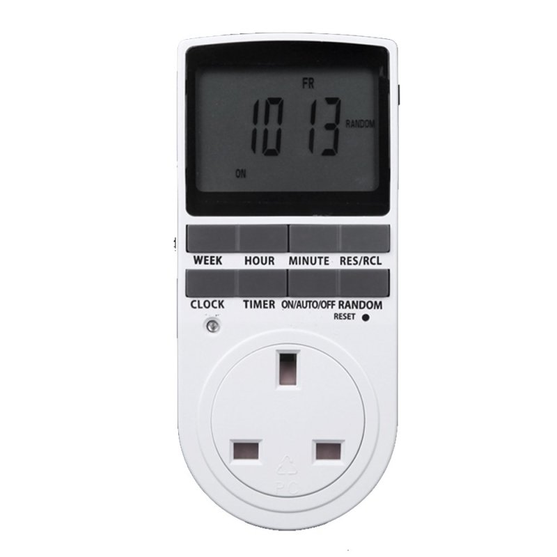 UK Plug Electric Power LCD Display Digital Programmable Timer Socket Switch