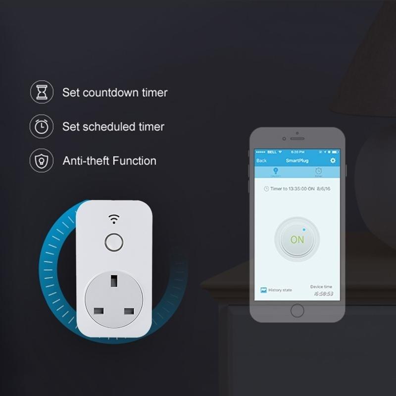 UK Standard WiFi Smart Socket Plug Switch Remote Control For BroadLink SP2 - intl