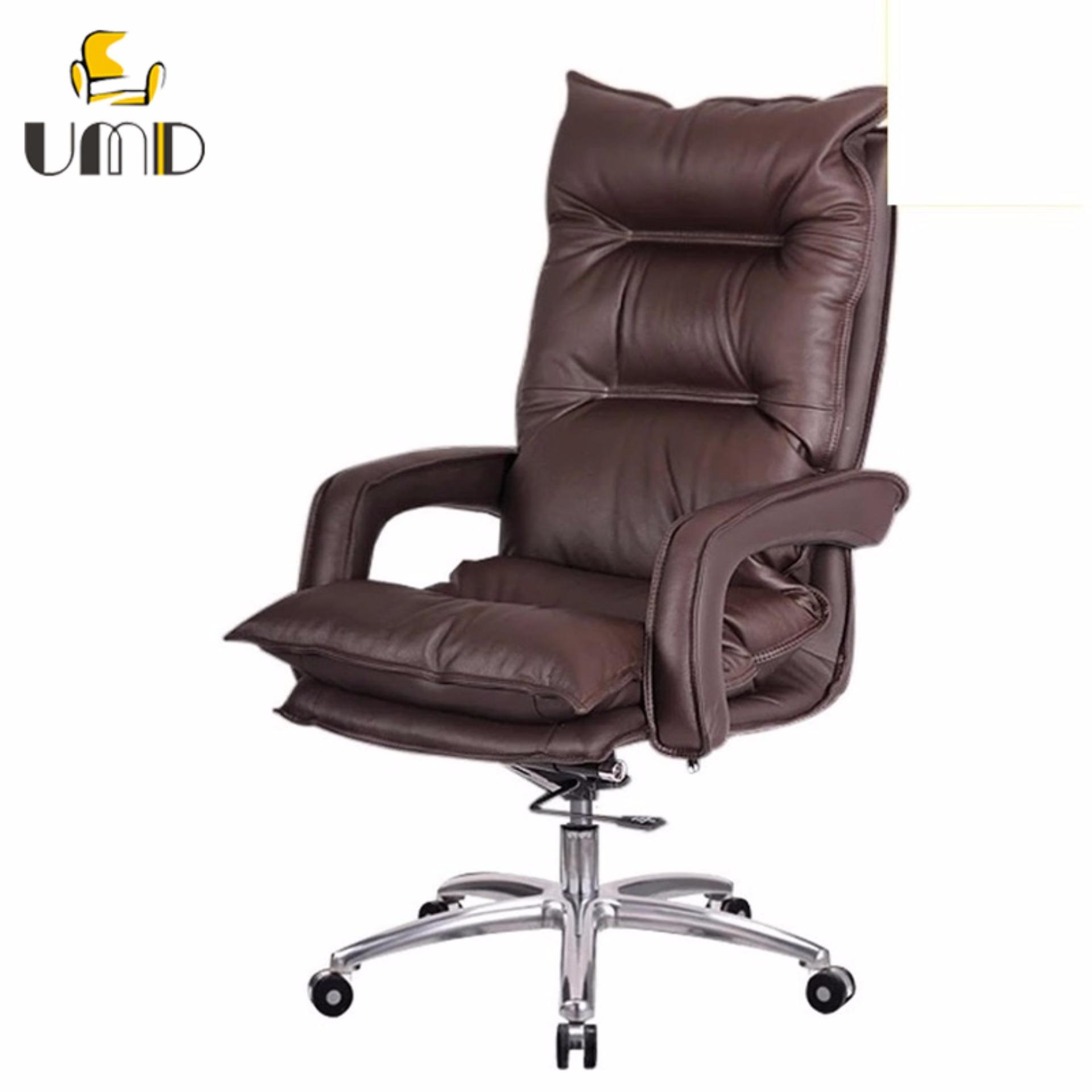 UMD Luxury Director Leather Chair Boss Chair Type A (Brown) | Lazada  Singapore