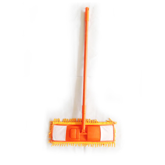 Vibrant Microfiber Mop With 3 Mop Pads (Orange)