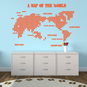 office world map. wall stickers world map large can be removed company office conference room creative sticker e