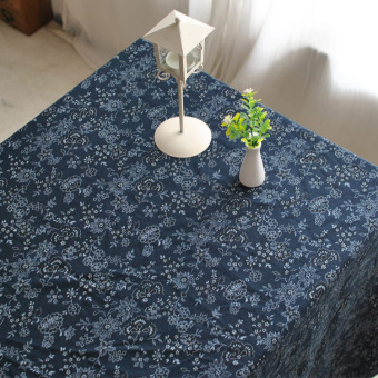 Taobao household blue coffee table rectangle tablecloth Popular