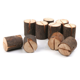 Wooden Name Place Card Holders Table Number Holder for Wedding Decor 10pcs - 4