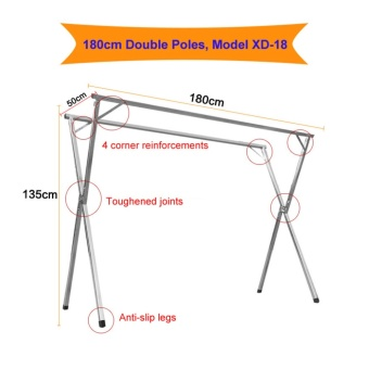 ?X-shape?1.8m Clothes Drying Rack / Laundry rack / Foldable Clothes Rack