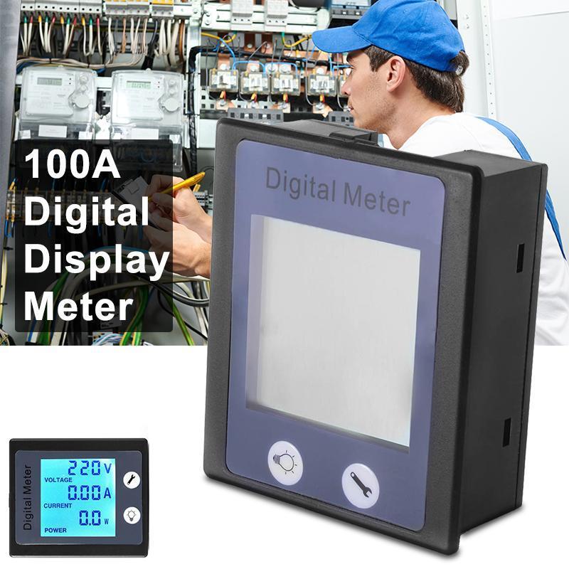 XCSOURCE AC 80-260V 100A LCD Digital Tester Current Power Meter Ammeter Voltmeter BI606 - intl