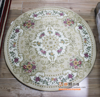 Xinjiang Round Linen Carpet Home Decoration Living Room Bedroom Dining Den Coffee Table Mats