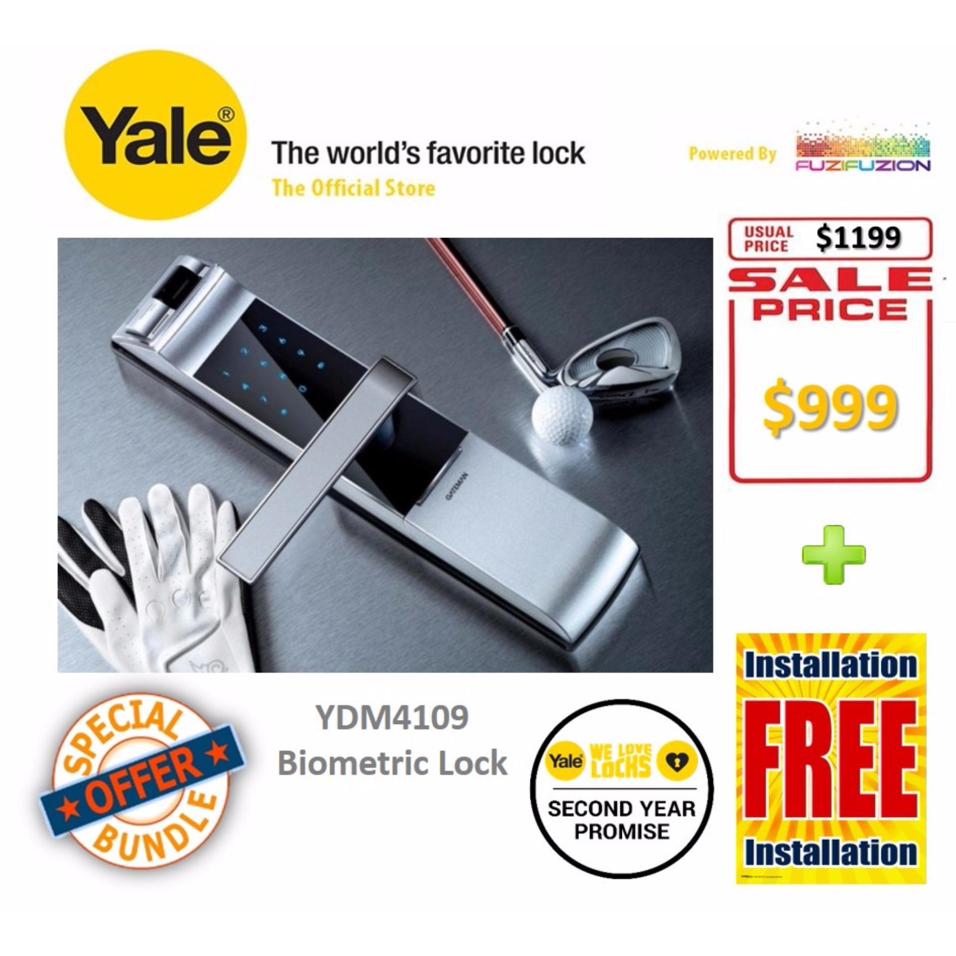 Yale Intelligent Biometric Fingerprint Digital Door Lock - YDM 4109  Singapore