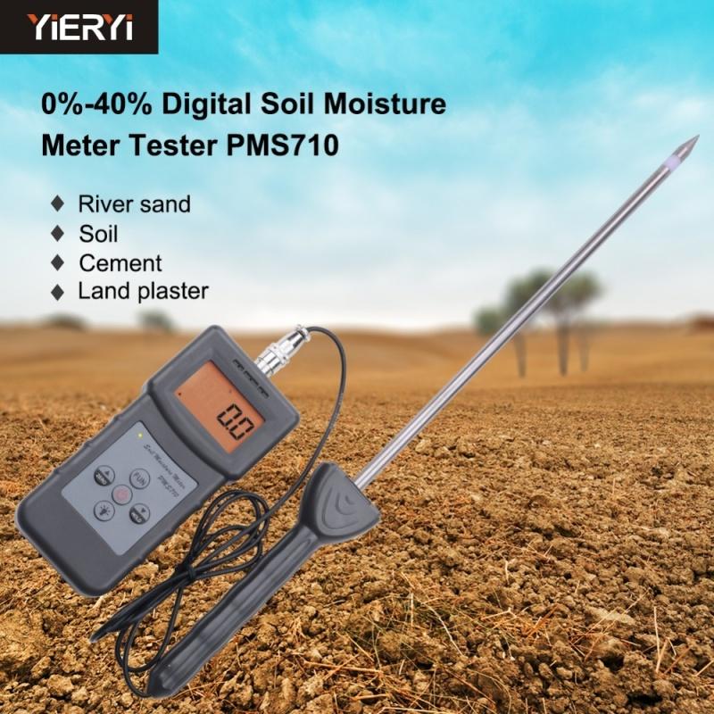 yieryi 100% New Brand PMS710 Digital Soil Moisture Meter Test River sand Soil Cement Land plater Sensor Tool High precision soil analyzer - intl
