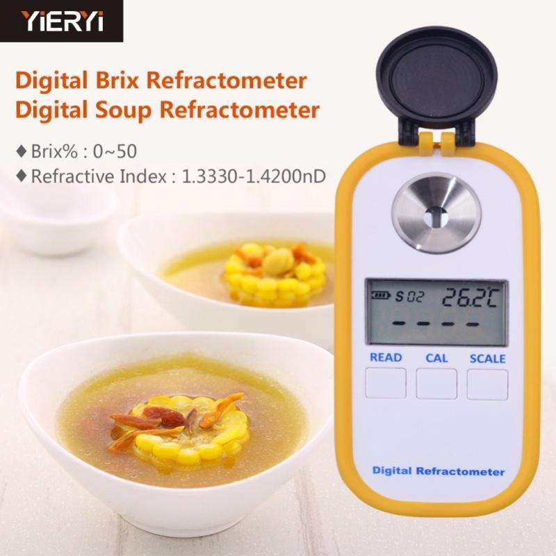 yieryi 2017 hot 100% Digital Brix Refractive Index Refractometer 0-50% Brix For Sugar In Wine Concentration Of La Noodle - intl