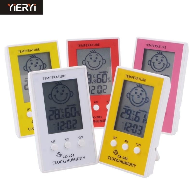 yieryi Digital Alarm Clock And Ectronic Hygrometer Indoor Home Thermometer Baby Kids Room Dedicated Watch Digital - intl