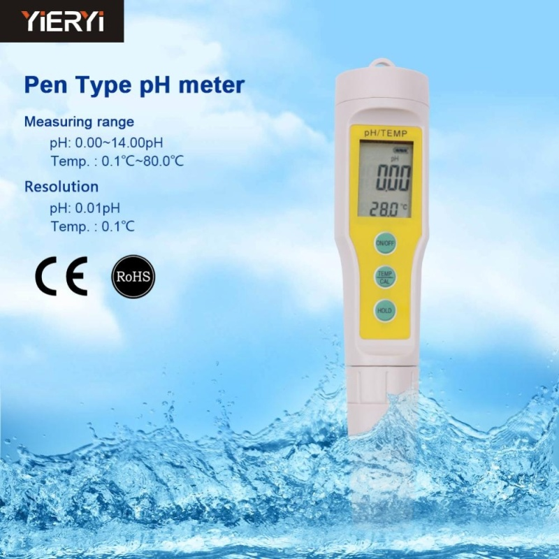 yieryi Newly PH-03 Design Digital LCD PH Meters Soil Aquarium Safe Pool Water Wine Urine Tester Analyzer - intl