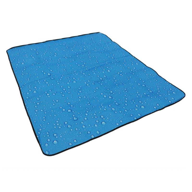 Yika 180 X 150cm Outdoor Water pattern Three layers Beach mat Moisture-proof pad Picnic mat Tent (Blue)