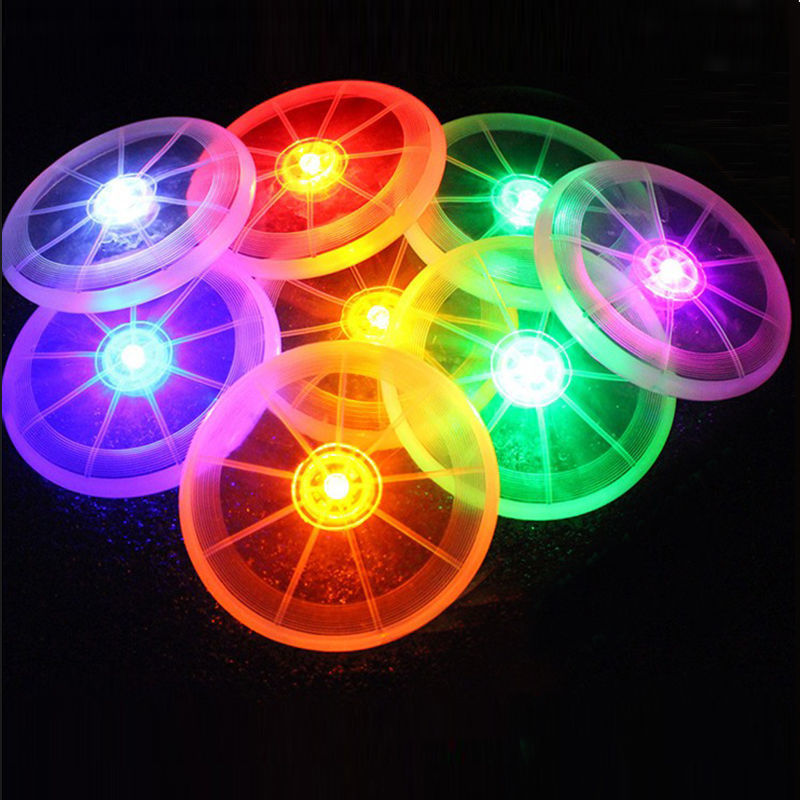 Yika Flying LED Disk Light Up Frisbee Outdoor Pet Dogs Toy (Multicolor)