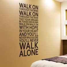 youll never walk alone inspirational quotes wall stickers roomdecoration home decals vinyl art liverpool team song lyrics - intl