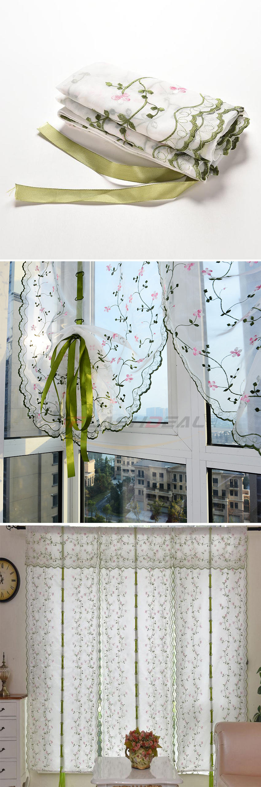 Big Promotion Iflashdeal 1 Pcs Curtain Tulle Door Window Curtain Roman Flower Curtain Embroidered Sheer Curtains Roll Up Rome Curtain Screen For Kitchen Bathroom Living Room Lazada Singapore
