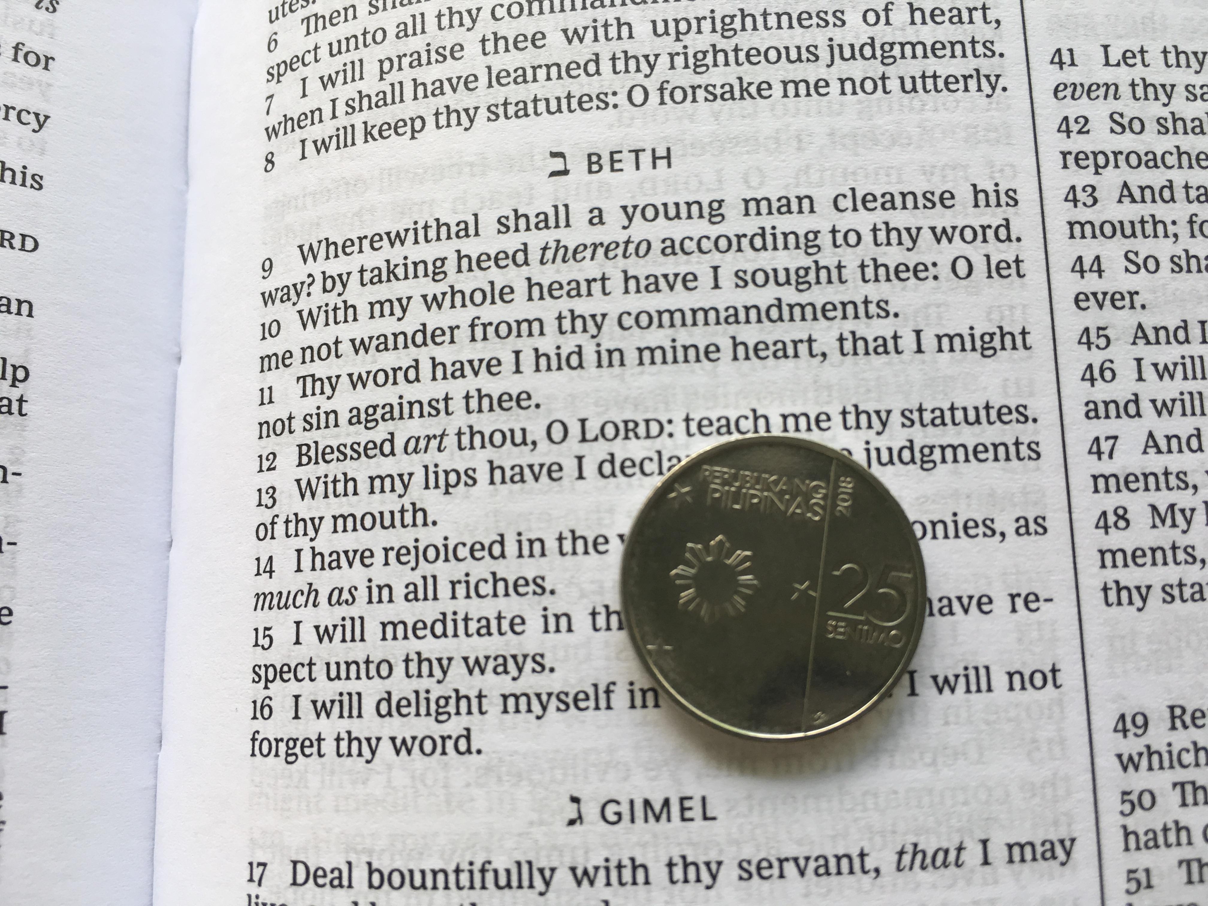 KJV King James Bible King James Version Black Leathersoft