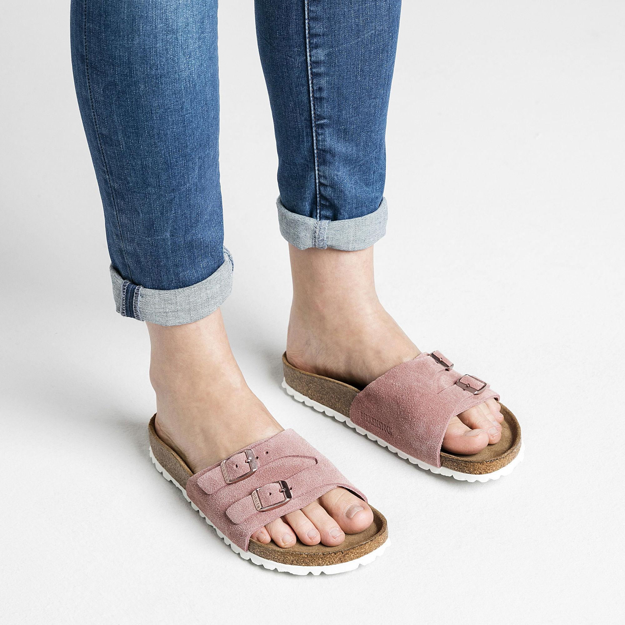 afb5c4f691f3 Specifications of Birkenstocks Women Styles Vaduz Vaduz Suede Soft Footbed  Rose