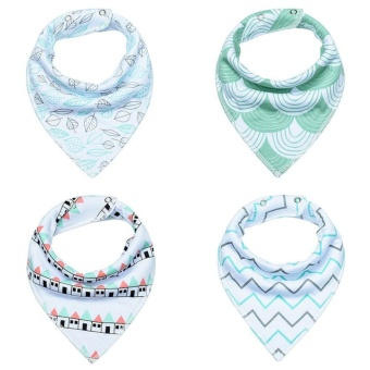 4pcs Toddler Infant Baby Dribble Bib Triangle Towel Saliva Towel - intl