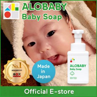 ALOBABY【Official】Baby Soap 250ml [Made-in-Japan / Organic / BabySkincare / BodySoap / Foam type / One-hand Push / Shampoo]