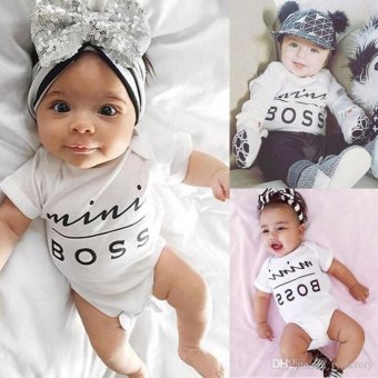 Baby Boys Girls Bodysuit mini boss letter print Romper - intl - 2