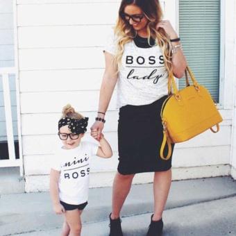 Baby Boys Girls Bodysuit mini boss letter print Romper - intl - 4