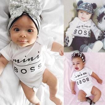 Baby Boys Girls Bodysuit mini boss letter print Romper - intl - 2