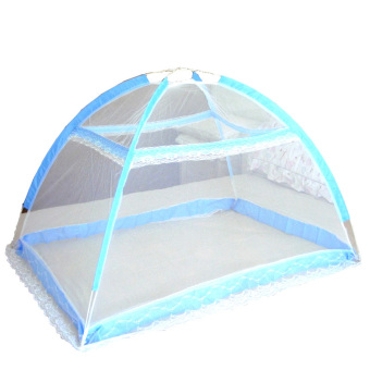 Harga Baby Infant Bed Canopy Mosquito Net Tent Foldable Portable CribNetting (Blue)