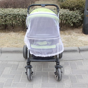 Baby Mosquito Net for Strollers, Carriers, Car Seats, Cradles White - 2