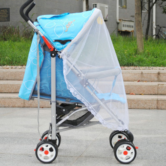 Baby Mosquito Net for Strollers, Carriers, Car Seats, Cradles White - 5