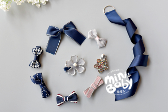 Baby princess series bow all-inclusive headband hairclip