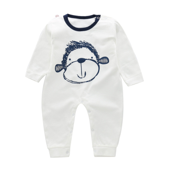Baby Spring and Autumn paragraph cardigan fine comb Cotton long-sleeved romper