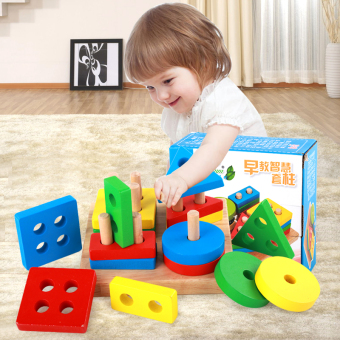 Baby wooden children's men and women three-dimensional puzzle - 2