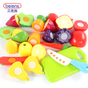 Bain Shi baby vegetables and fruit honestly music over every family toys male girl children to cook kitchen set