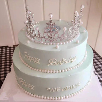 Baking Supplies Birthday Party Dress Up Supplies Cake Decoration Pearl Crown Crown Decorative Dress Up