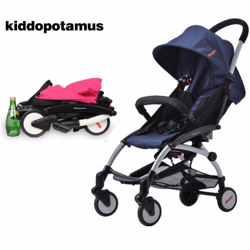 Cabin size Ultra Lightweight one hand fold stroller - Kiddopotamus® - Blue Singapore
