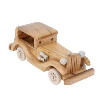 Creative Retro Wooden Classic Car Model Children Toys Crafts Decoration - intl - 5